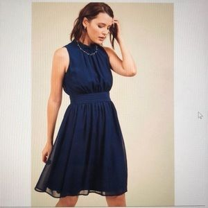 ModCloth Navy Blue A-Line Dress